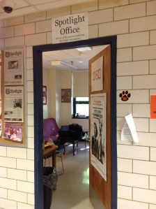 South Hadley High School's student newspaper, The Spotlight's,  office.