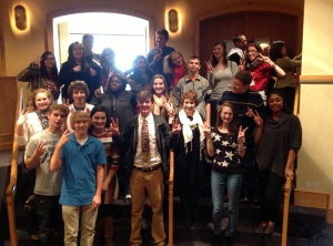 Sparkman HS students after singing