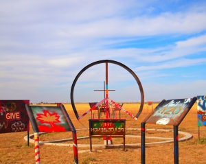 Pablo Shapiro's photo of the Peace Sign Park on Route 66.