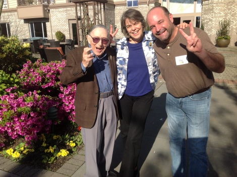 Isodore Starr, Mary Beth Tinker and Mike Hiestand in Seattle 4/30/2014