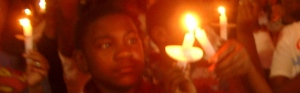 Candlelight vigil at White House on Michael Brown's funeral day, Aug. 25