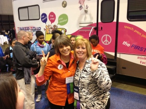 "Cathy Kuhlmeier, from ""Hazelwood""  joins Mary Beth at National Council for Social Studies conference, St. Louis, 2013"