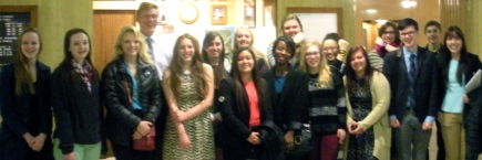 W Fargo students drove 3 hrs. to support John Wall New Voices Act