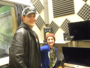 Eric & Danielle, of Bismarck Community College Media program in the broadcast studio that students build.
