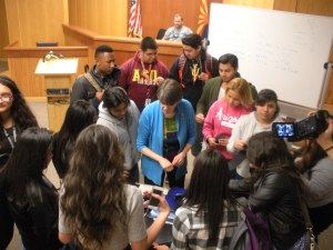 S Mountain HS Law students meet in their own courtroom!