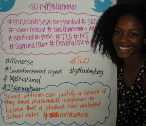 Student rights tweets rule!  Marshall Brennan HS students get creative at American U in DC at moot court event