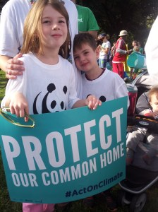 Kids attend rally for the Pope in DC