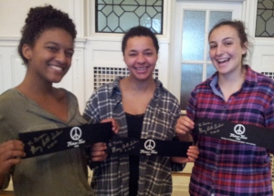 "Buffalo Seminary students, Morgan, Tracy and Carole led a ""Black Lives Matter"" event at their school"