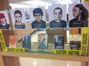 Banned Books display at Jamesville Dewitt HS- thanks, school librarians, for keeping the First Amendmend alive!