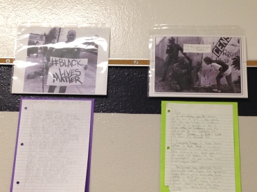 Social Justice display in the halls of Harding MS